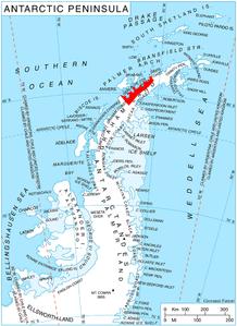 Map of Danco coast