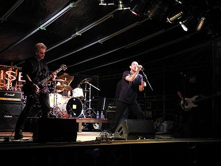 Pioneering English crust punk band Antisect performing in Finland in 2011 Antisect Finland 2011.jpg
