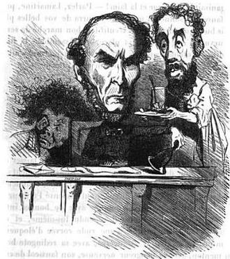 Antoine Sénard - Caricature of Antoine Sénard (center) and Joseph Degousée (right) by Cham