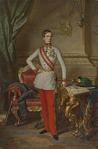 1850s - Image: Anton Einsle Kaiser Franz Joseph I