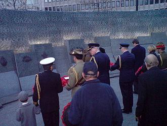 Australian War Memorial, London - Image: Anzacday 08 1