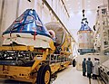 Apollo 11 CSM being readied for mating to Saturn V (48274971197).jpg