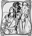 Arapaho ans horse in art detail, from- Der Arrapahu von Max Felde (Kamerad-Bibliothek) (page 2 crop) (cropped).jpg