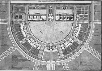 Royal Saltworks at Arc-et-Senans - Ledoux's second design plan for Royal Saltworks at Arc-et-Senans.