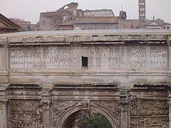 Arch of Septimius Severus Top Inscription