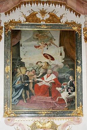 Schloss Leopoldskron - Archbishop Firmian of Salzburg gives Schloss Leopoldskron to his nephew Count Laktanz