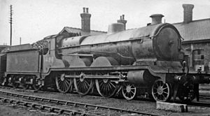 GCR Class 8F - B4 4-6-0 No. 1486 at Ardsley Locomotive Depot