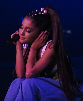 MTV Video Music Award for Best Pop Video - The current winner, Ariana Grande.
