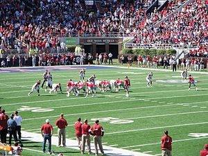 Arkansas–Ole Miss football rivalry - Ole Miss on offense during the game