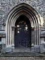 Arkesden Church of St Mary tower west door, Essex, England.jpg