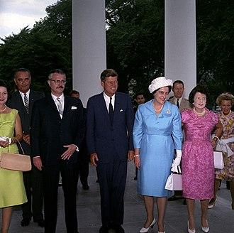 Carlos Julio Arosemena Monroy - Carlos Julio Arosemena Monroy with John F. Kennedy  35th president of the United States during a visit to the United States of America (USA),