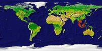 Mapa de distribuição (em vermelho)