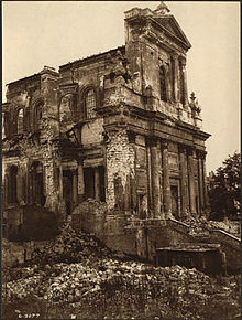 Cathedral Showing Damage During World War I.