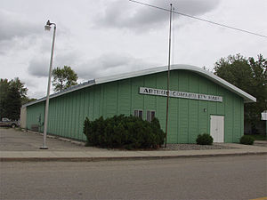 Arthur, North Dakota - The Arthur community hall