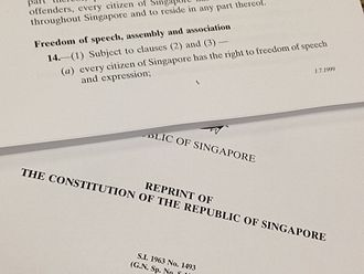 Sedition Act (Singapore) - Article 14(1)(a) of the Constitution of Singapore guarantees the right to freedom of speech and expression to Singapore citizens, but Article 14(2)(a) allows Parliament to impose restrictions on the right where it is necessary or expedient in the interest of, among other things, public order. The Sedition Act can be seen as such a restriction.