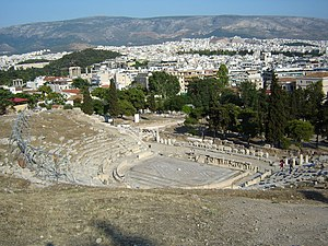 Aeschylus - Modern picture of the Theatre of Dionysus in Athens, where many of Aeschylus's plays were performed