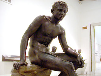 Seated Hermes - Bronze Seated Hermes from Herculaneum
