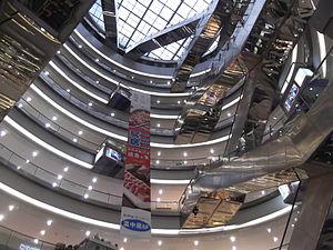 Cloud Nine (Shanghai) - An atrium in the Cloud Nine shopping mall.
