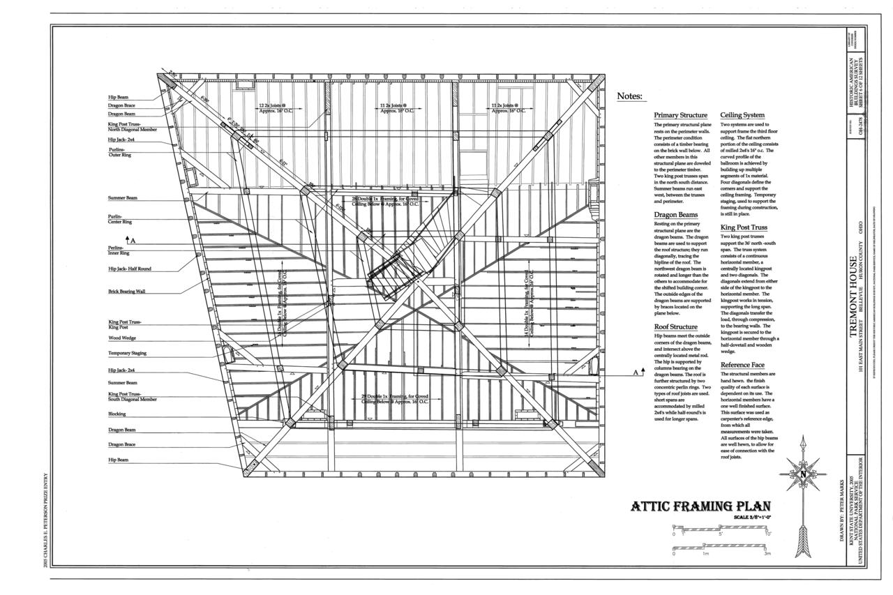 File:Attic Framing Plan - Tremont House, 101 East Main Street ...