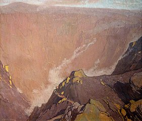 Au bord du cratère du Vésuve