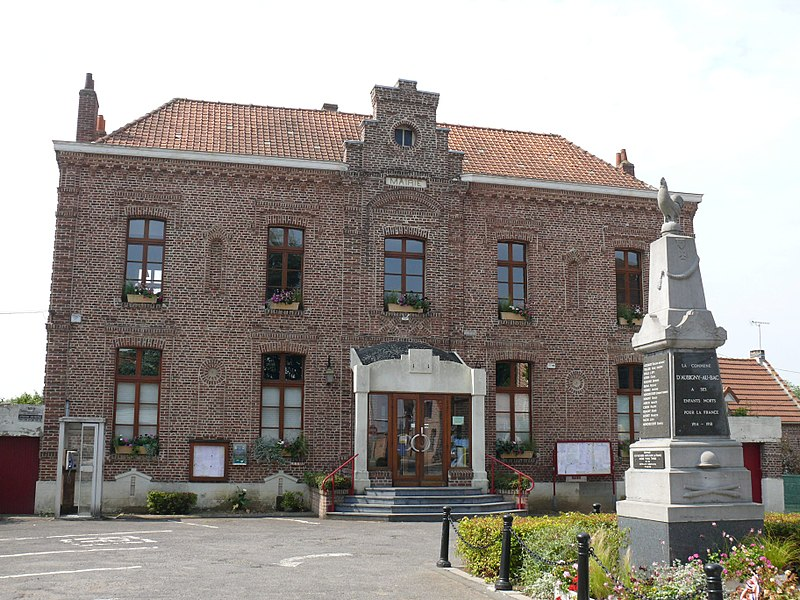 The town hall of Aubigny-au-Bac (Nord, France).