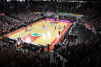 FC Bayern Munich (basketball) - A Bayern Munich home game inside the Audi Dome.