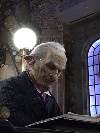 Harry Potter and the Escape from Gringotts - Image: Audio animatronic of Harry Potter and the Escape from Gringotts