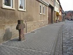 Auleben - Steinkreuz (1) Straße der Einheit.jpg