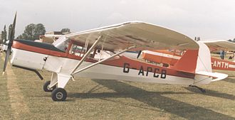 Auster J family - Auster J/5Q Alpine at PFA Rally at Cranfield airfield, Bedfordshire, in July 1989