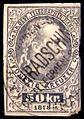 Austria 50kr telegraph stamp used Hradschin (Hradčany) Prague.JPG