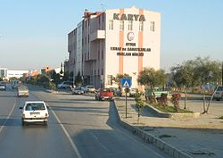 Entry into Aydın city shortly after the motorway exit