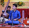Ayush Dwivedi 's Dhrupad performance at Sangeetanjali Samaroh kanpur.jpg