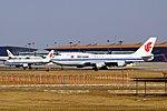 B-2447 & B-6607 - Air China - Boeing 747-4J6 & Airbus A320-214 - PEK (12991708353).jpg