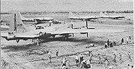 Bombowce B-29 Superfortress na krótko przed udziałem w ataku
