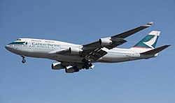Boeing 747-400 der Cathay Pacific
