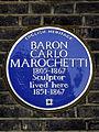 BARON CARLO MAROCHETTI 1805-1867 Sculptor lived here 1851-1867.jpg