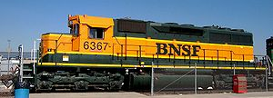 A unit - An EMD SD40 A unit owned by BNSF Railway