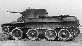 "Battle of Uman - BT-7M; BT tanks, noted by their high speed and thin armor, made up a significant part of the Soviet tank fleet in 1941. Breaking out of the Uman ""cauldron"", the chief of staff of the 6th Army Ivanov drove 200 km along the German rear on a BT-7M tank."