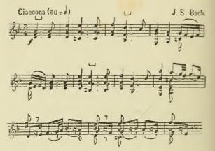 Bach, Chaconne de la quatrième sonate. Huet,jeu du violon,1880.tiff