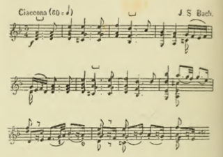 Chaconne Type of musical composition
