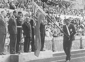 Bahamas at the 1958 British Empire and Commonwealth Games - Tommy Robinson pictured during the 1958 British Empire Games in Cardiff, Wales.