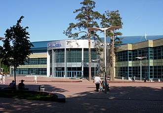 Rink bandy - Balashikha Arena, where the 2017 Russian Rink Bandy Cup took place.
