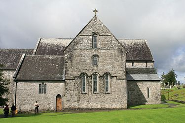 Ballintubber Abbey, An Augustinian priory founded in the 13th century, suppressed in 1603 and burned in 1653; but continually re-occupied and used for Catholic services, and re-roofed in the 20th century Ballintubber Abbey East Range 2007 08 12.jpg