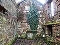 Ballochmyle walled gardens, interior of ruins of gardener's cottage, Mauchline.jpg