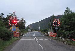 Balnacra Level Crossing - barriers being installed (10422586073).jpg