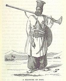 Белуджий в традиционных панталонах синдхи 1845.jpg