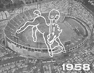 1958 Baltimore Colts season - Baltimore Memorial Stadium 1958