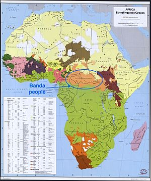Banda people - Image: Banda people geographical distribution, an African ethnic group