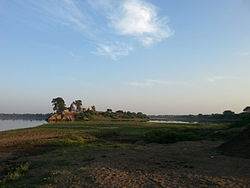 Landscape of the Tapi River in Dhule district.