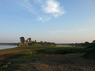 Khandesh - Landscape of the Tapi River in Dhule district.